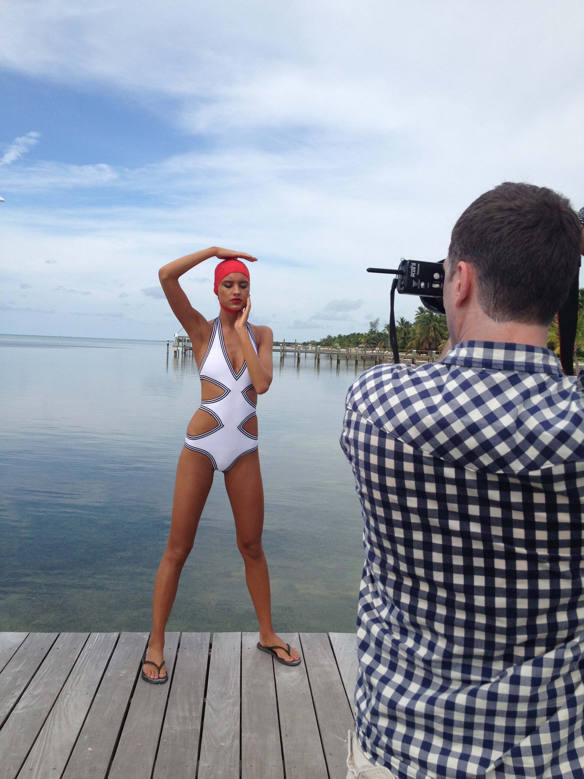 Karla Colletto on location in Islamorada, FL