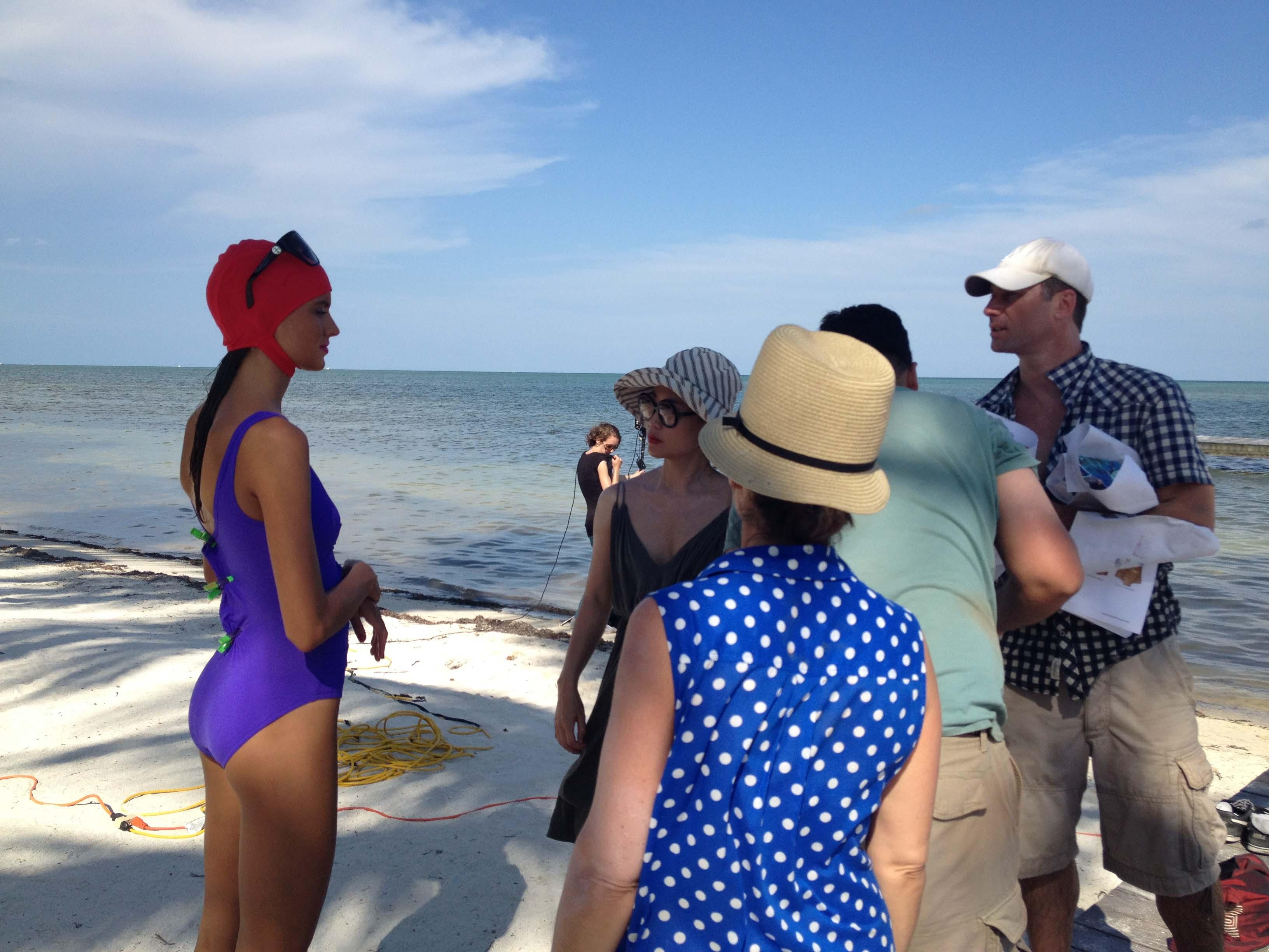 Karla Colletto on location in Islamorada, FL