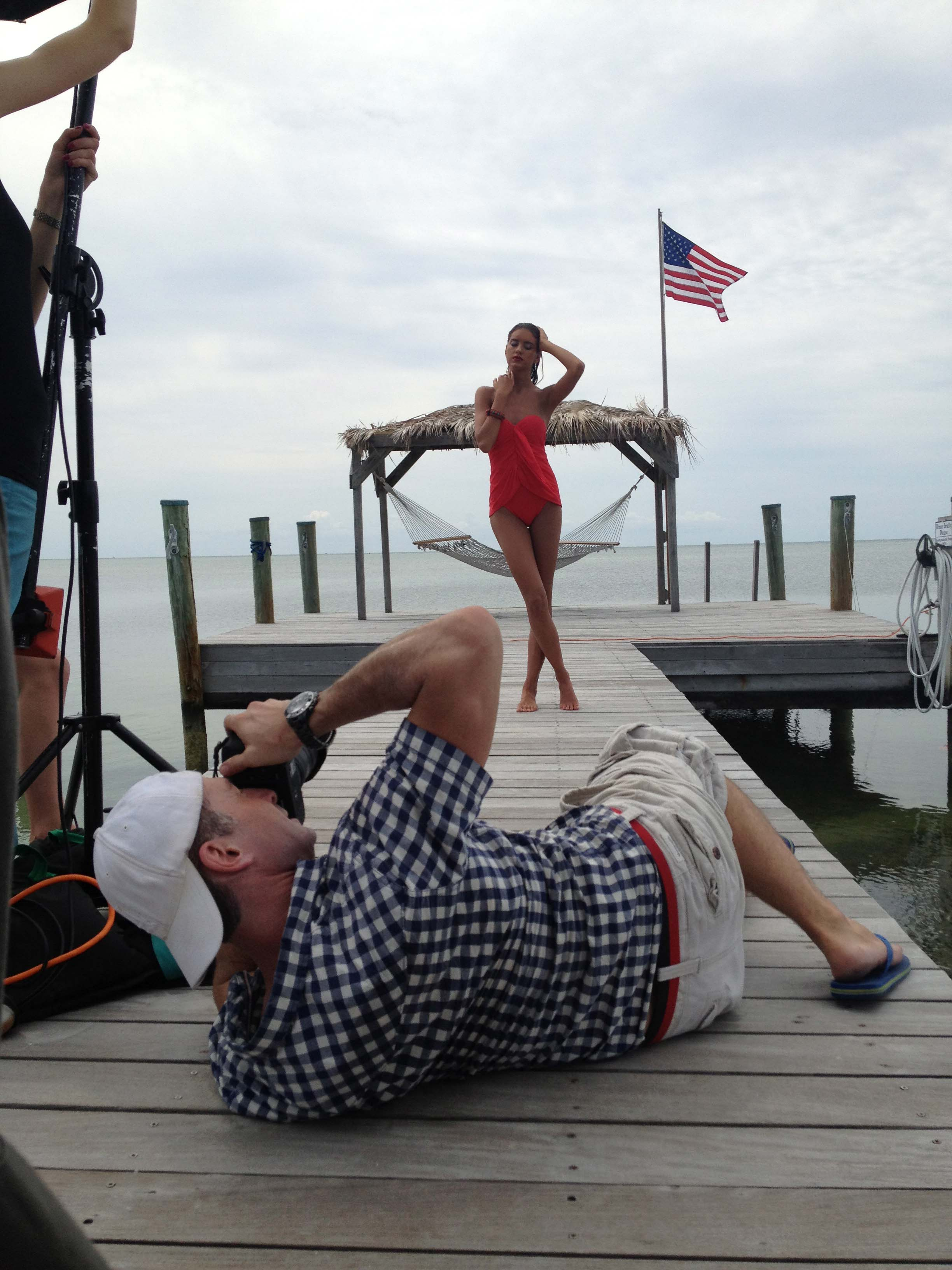 Behind the scenes for the cruise 2013 catalog shoot