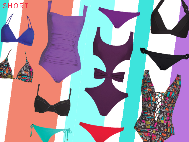 Swimsuits that create flattering proportions for short frames