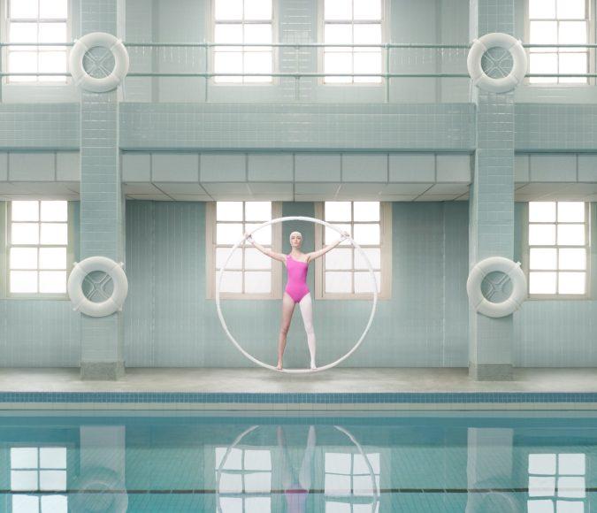 Lyra One Shoulder with Shelf Bra in Ultra Pink | Karla Colletto Resort 2021